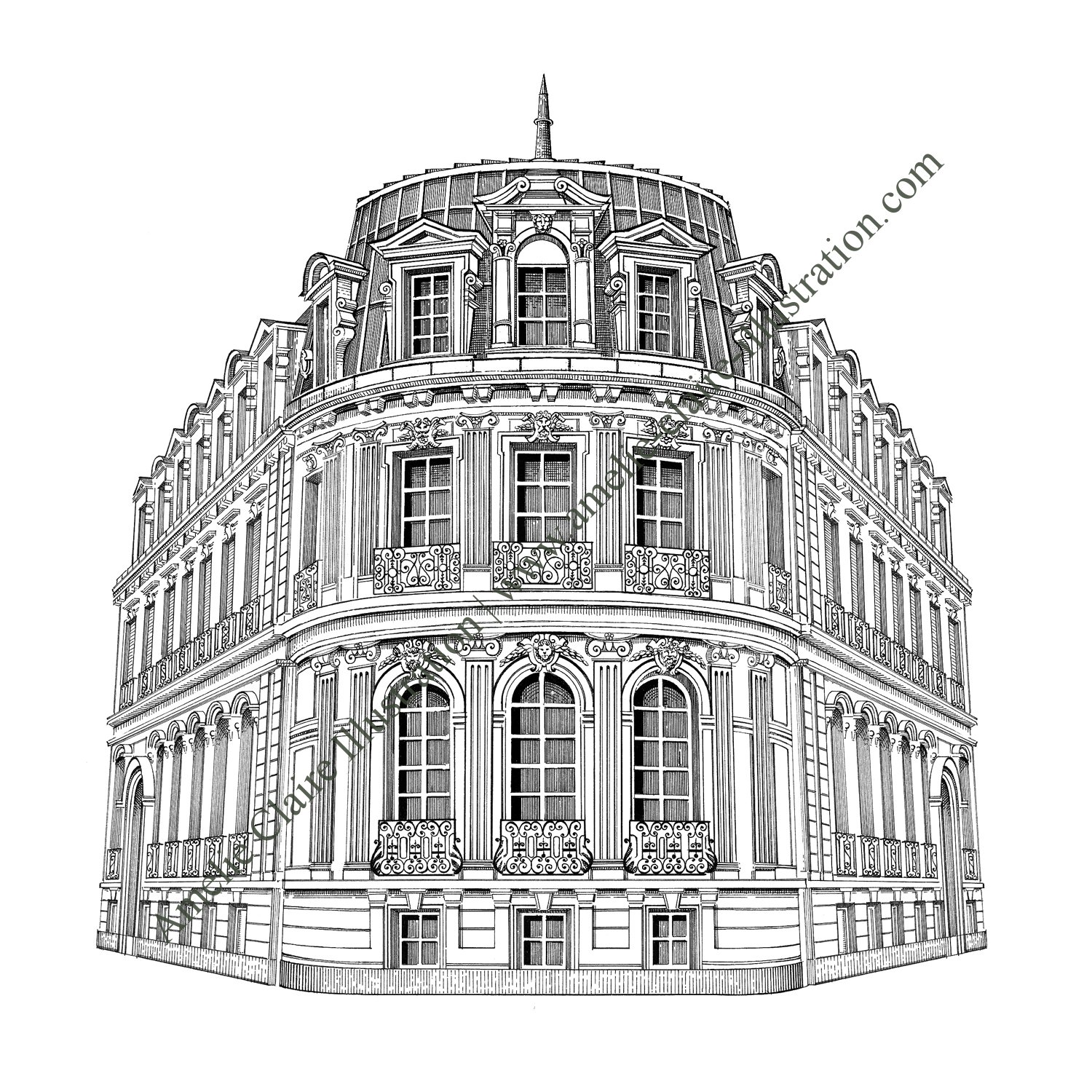 Favori Immeuble Haussmannien 2 - Amelie Claire illustration traditionnelle VV92